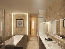 Het marmer van de badkamers Royalty-vrije Stock Foto's