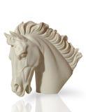 Marmeren beeldhouwwerk van een hoofd van het paard Royalty-vrije Stock Afbeeldingen