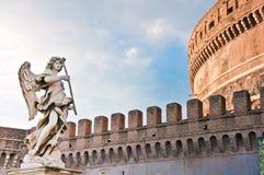 Het marmeren standbeeld van Bernini van engel Royalty-vrije Stock Foto's