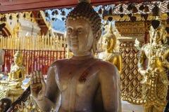 Het marmeren standbeeld van Boedha Stock Afbeelding