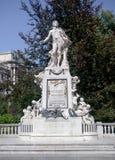 Het marmeren standbeeld Wenen van Mozart Stock Afbeeldingen