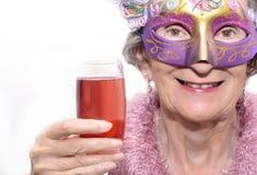 Het masker en de drank van de partij Stock Foto's