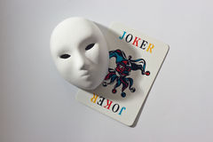Het masker en de joker van het pleister Stock Fotografie