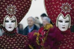 Het masker en de kostuums van Carnaval Royalty-vrije Stock Afbeelding