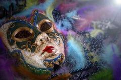 Het masker van Carnaval Stock Foto's