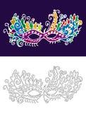 Het masker van Carnaval vector illustratie