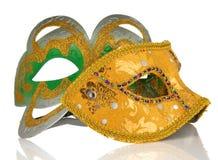Het masker van Carnaval dat op wit wordt geïsoleerda Royalty-vrije Stock Foto's