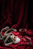 Het masker van Carnaval Het concept van de theaterdecoratie Royalty-vrije Stock Afbeeldingen