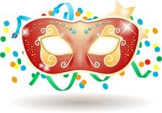 Het masker van Carnaval op witte achtergrond Stock Foto's