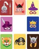 Het masker van Carnaval, purim masker. Stock Foto