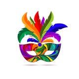 Het masker van Carnaval Vector illustratie royalty-vrije illustratie
