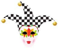 Het masker van Carnaval Venetië royalty-vrije illustratie