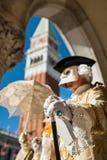 Het Masker van Carnaval in Venetië Stock Afbeeldingen
