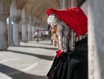 Het Masker van Carnaval in Venetië Stock Fotografie