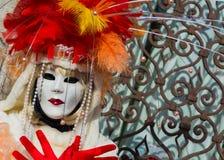 Het masker van Carnaval in Venetië Carnaval van Venetië is een jaarlijks die festival in Venetië, Italië wordt gehouden Het festi royalty-vrije stock foto