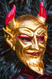Het masker van Carnaval in Venetië, Italië. Stock Fotografie