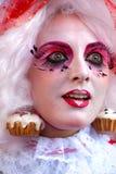Het masker van Carnaval in Venetië, Italië. Stock Foto's