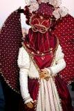 Het masker van Carnaval in Venetië, Italië Stock Foto