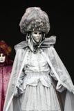Het masker van Carnaval: zilver Stock Afbeelding