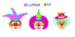 Het masker van 2019 Clownskarakters, Gelukkig Purim-de pictogrammenpatroon van Carnaval van de Festival Joods Vakantie stock illustratie