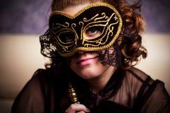 Het masker van de dame Stock Afbeelding