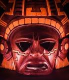 Het masker van de klei van maya in dark Royalty-vrije Stock Foto