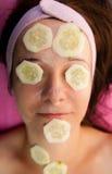 Het masker van de komkommer Stock Foto's