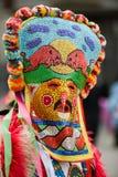 Het masker van de maskerade - kukeri stock foto's