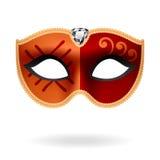 Het Masker van de maskerade. Vector. Stock Afbeeldingen