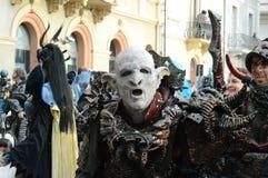 Het masker van de strijdersorka Stock Foto