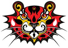 Het masker van de tijger Royalty-vrije Stock Afbeelding