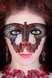 Het masker van de vlinder Stock Afbeeldingen