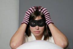 Het masker van de vrouw Stock Afbeelding