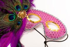 Het Masker van de Vrouw van het Spoor van de maskerade royalty-vrije stock foto's