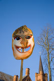 Het masker van Gras van Mardi op hemelachtergrond Stock Afbeeldingen