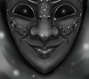 Het masker van harlekijncarnaval met glanzende kwade ogen Royalty-vrije Stock Foto