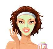Het masker van het gezicht stock illustratie