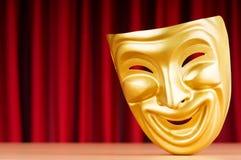 Het masker van het theater op de achtergrond Stock Foto's