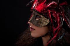 Het Masker van Mardi Stock Afbeelding