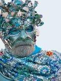 Het masker van Neptunus - Venetië Carnaval 2011 Royalty-vrije Stock Foto