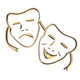 Het masker van Teather royalty-vrije illustratie