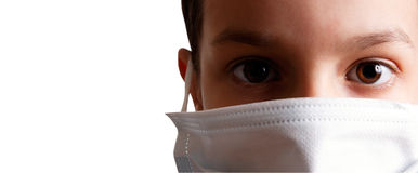 Het maskerkind van de gezondheid Royalty-vrije Stock Afbeeldingen