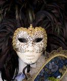 Het maskerwit van Venetië Stock Foto