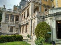 Het Massandrapaleis van Keizer Alexander III wordt gevestigd in Hogere Massandra royalty-vrije stock fotografie