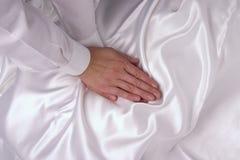 Het masseren van handen stock foto