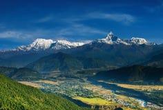 Het massief van Annapurna stock foto