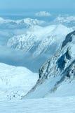 Het massief van de winterdachstein Royalty-vrije Stock Afbeeldingen