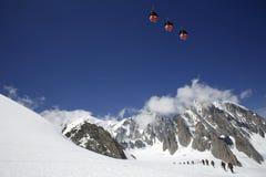 Het massief van Mont Blanc Stock Foto