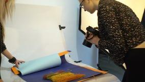 Het materiaal digitale camera van de coulissefotografie stock footage