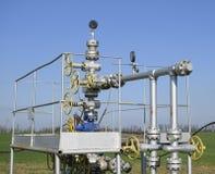 Het materiaal en de technologieën op olievelden Oliebron royalty-vrije stock afbeeldingen